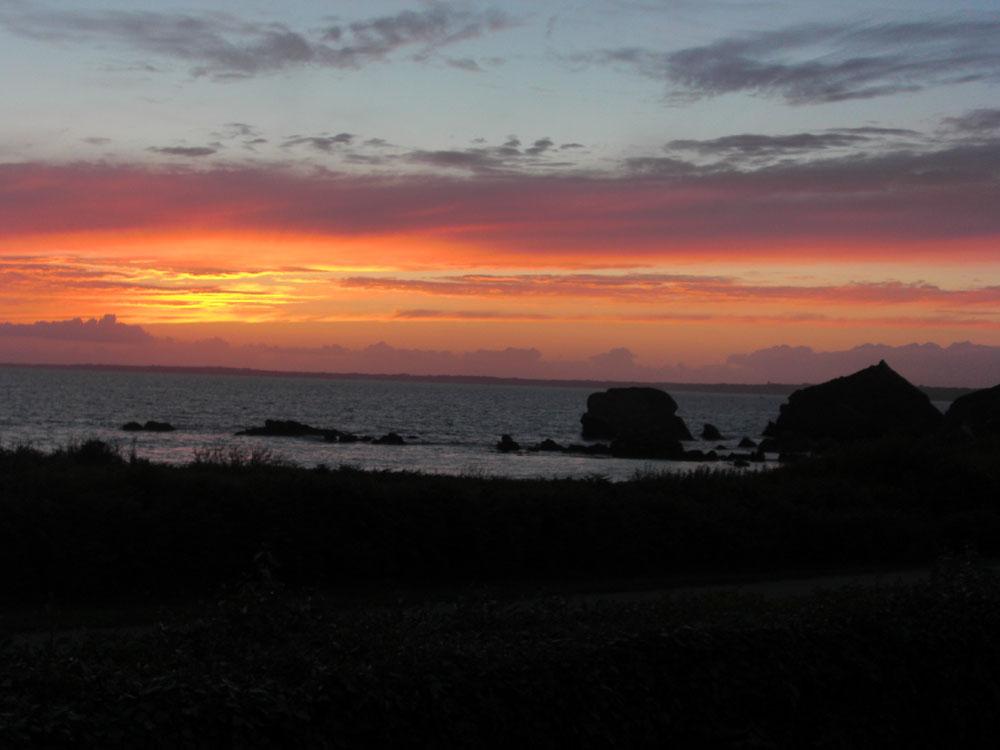 Sonnenuntergang beim Camping Trez Touz bei Camaret-sur-Mer