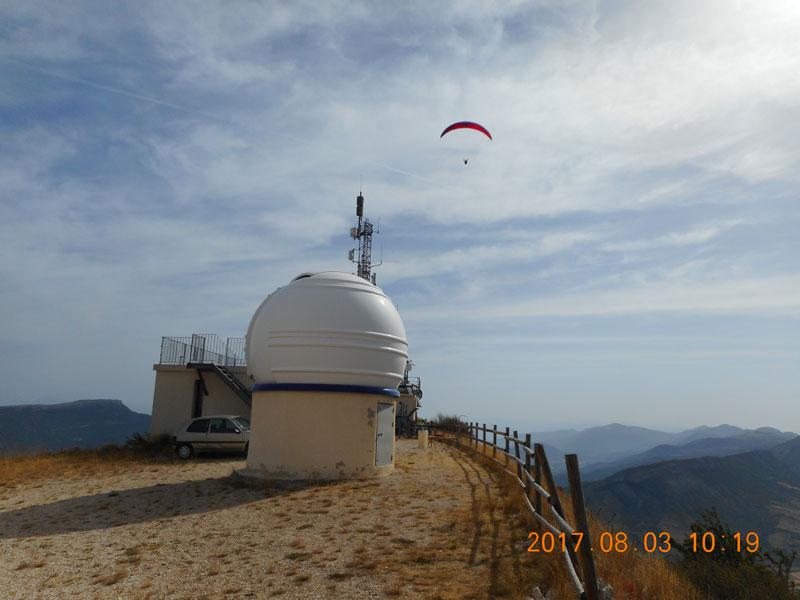 Sternwarte auf den Montagne de Bergies