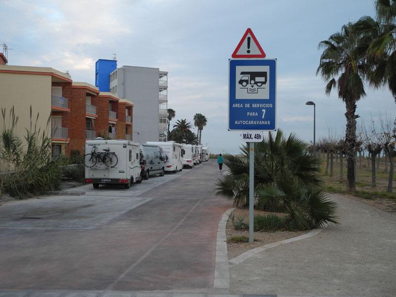 Stellplatz mit Entsorgung in Benicarlo